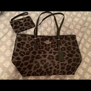 Brand New Leopard Coach Purse/Wallet